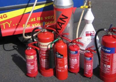 extinguishers+lined+up